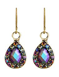 cheap -Fine Jewelry European Style High-Grade Charms Fashion Purple Rhinestone Zinc Alloy Earrings
