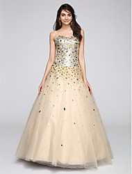 cheap -Ball Gown Princess Sweetheart Floor Length Tulle Cocktail Party / Prom / Formal Evening / Holiday Dress with Sequin by TS Couture®