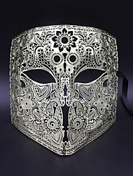 Medieval knight laser cutting hollow metal shield mask6002A3