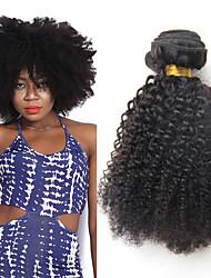 Недорогие -3 Связки Бразильские волосы Афро Kinky Curly 10A Не подвергавшиеся окрашиванию Человека ткет Волосы 8-20 дюймовый Ткет человеческих волос Расширения человеческих волос / Кудрявый вьющиеся