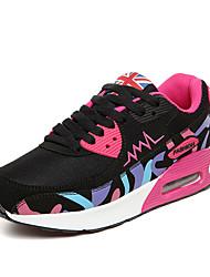 Women's Sneakers Spring / Fall Comfort PU Casual Flat Heel Black Walking