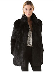 cheap -Women's Plus Size / Daily / Party/Cocktail Casual Fur Coat
