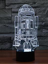 navio de guerra toque escurecimento 3D conduziu a luz da noite 7colorful decoração atmosfera lâmpada de luz de Natal iluminação