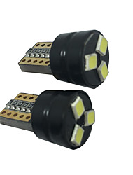 2PCS T10 1.5W LED Can-bus 5050 3SMD T10 Reading Lamp T10 LED License Plate Lamp Golf 5/6/7 LED License Plate Lamp
