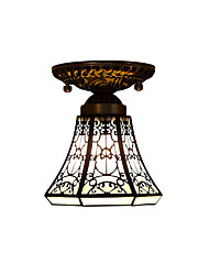 Tiffany Retro ceiling lamps With 40W