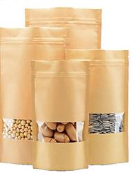 Kraft Ziplock Window 14 * 22 Tea Bags Kraft Paper Food Bags Factory Direct A Packet Of Ten