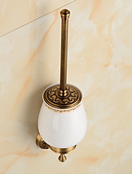 cheap -Toilet Brush Holder Bathroom Gadget Antique Brass 6cm 13cm Toilet Brush Holder