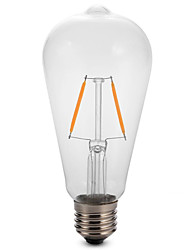 1pc 2W E27 ST64 Edison LED Filament Bulb Lamp 2200-6500K 180LM COB Light(220-240V)