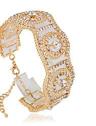 preiswerte -Damen Tennis Armbänder Modisch Aleación Kreisform Silber Golden Schmuck Für Hochzeit 1 Stück