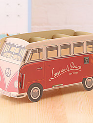 DIY Cardboard Desktop Storage Box(Bus)