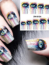 cheap -Fashion Printing Pattern Water Transfer Printing Abstract Eye Nail Stickers