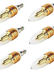 E14 Luci LED a candela CA35 32 leds SMD 3014 Decorativo Bianco caldo 250lm 3000K AC 85-265 AC 220-240 AC 100-240 AC 110-130V