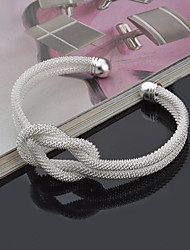 cheap -Women's S925 Sterling Silver Cuff Bangle for Wedding Party Casual Bracelet Jewelry Gifts