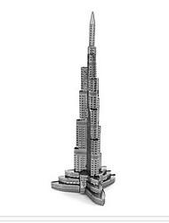 Недорогие -Aipin 3D пазлы / Наборы для моделирования Знаменитое здание Металл Мальчики / Девочки Подарок