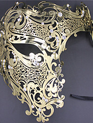 Signature Phantom Of The Opera Half Face Laser Cut  Mask Metal5002A3