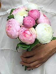 Bouquet sposa Tondo Peonie Bouquet Matrimonio Partito / sera Raso 15 cm ca.