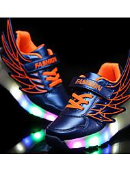 preiswerte -Mädchen Schuhe PU Sommer Roller-Skate Schuhe / Leuchtende LED-Schuhe Sneakers Walking LED für Orange / Fuchsia / Königsblau