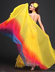 abordables -Danza del Vientre Pañuelos de Cadera para Danza del Vientre Mujer Rendimiento Poliéster Frontal Abierto Bufanda Hip y cinta de Danza del vientre no incluidas.