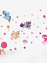 Wall Stickers Wall Decals Style My Little Pony PVC Wall Stickers