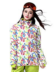 Ski Jacket Women's Ski & Snowboard Winter Sports Thermal / Warm Windproof Cotton Polyester Winter Jacket