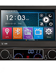 cheap -7 Inch Detachable 1 Din Car DVD Player Multimedia System Anti-theft GPS Sat Navi Bluetooth EX-TV Mirror-Link 7 Colors Button Light Universal DK7091LT