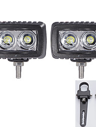 2X LED Cree Light Bars SUV 4WD ATV 4*4 Vehicles Offroad with A Pair 1 Inch Mounting Brackets