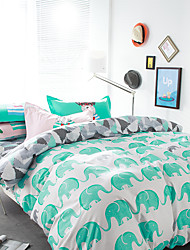 Elephants brief style 4piece bedding sets print duvet cover Sets 100% Cotton Bedding Set Queen Size