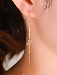 cheap -Women's Drop Earrings - Sexy / Fashion / Simple Style Gold / Silver Triangle Earrings For Daily / Casual