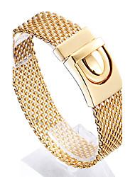 abordables -Hombre Cadenas y esclavas Moda Acero inoxidable Chapado en Oro 18K de oro Forma Geométrica Joyas Para Regalos de Navidad