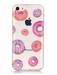 cheap -TPU Material + IMD Technology Donuts Pattern Painted Relief Phone Case for iPhone 6s Plus / 6 Plus/SE / 5s / 5/5C
