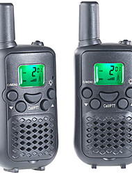 abordables -T899C Walkie Talkie 0.5W 8 Channels 400-470MHz AAA alkaline battery 3KM-5KMVOX / Cifrado / Pantalla LCD / Monitor / Escanear /
