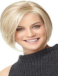 economico -Donna Parrucche sintetiche Senza tappo Pantaloncini Lisci Biondo parrucca nera Parrucca di Halloween Parrucca di carnevale costumi