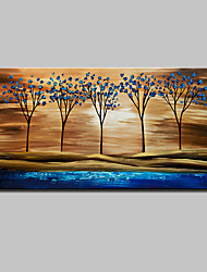 cheap -Hand Painted Abstract Tree Landscape Oil Painting On Canvas Wall Art With Stretched Frame Ready To Hang