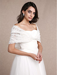 cheap -Sleeveless Lace Wedding Party Evening Women's Wrap With Lace Shrugs