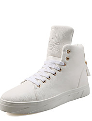 povoljno -Muškarci Cipele PU Proljeće Jesen Udobne cipele Sneakers Vezanje za Kauzalni Obala Crn Crvena