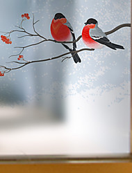 cheap -Window Film Window Decals Style A Bird on A Branch Matte PVC Window Film - (60 x 58)cm