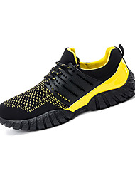 cheap -Men's Sneakers Spring / Fall Comfort Tulle Casual Flat Heel  Blue / Yellow / Red Walking