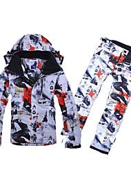 abordables -Hombre Mantiene abrigado, Resistente al Viento, Cremallera impermeable Esquí / Deportes de Nieve / Snowboard Algodón, Poliéster Pantalones / Sobrepantalón / Sets de Prendas Ropa de Esquí