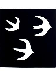 preiswerte -6pcs Frauen Make-up Körper Henna-Tattoo-Schablonenkunst Malerei Vögel Design Henna-Tattoo Schablone schlucken