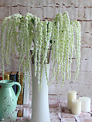 1 1 Ramo Polistirolo / Plastica altro Cestino Fiore decorativo Fiori Artificiali 35.4inch/90cm