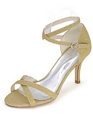 cheap -Women's Shoes Glitter Spring / Summer Sandals Stiletto Heel Sparkling Glitter Red / Blue / Golden / Wedding / Party & Evening
