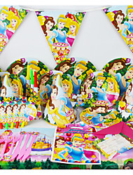Luxury Princess 78pcs Birthday Party Decorations Kids Evnent Party Supplies Party Decoration 6 People use