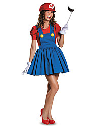 cheap -Costumes More Costumes Halloween Red / Green Patchwork Terylene Dress / More Accessories