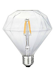 cheap -1PCS 4W E26/E27 LED Filament Bulbs G125 4 leds COB Decorative Dimmable Warm White 300-350lm 2300-2800K AC 220-240V