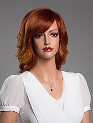 Недорогие -естественный волнистый очаровательный парик с челкой девственной человеческих волос вторичного цвета 14 дюймов