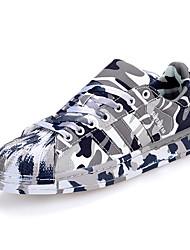 Unisex Sneakers Comoda PU (Poliuretano) Primavera Autunno Casual Comoda Lacci Piatto Bianco Nero Grigio Rosa Dorato Piatto