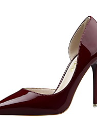 cheap -Women's Shoes Patent Leather Spring Summer Basic Pump Novelty Heels Stiletto Heel Pointed Toe Hollow-out For Party & Evening Dress