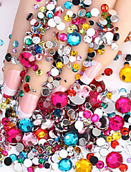 cheap -2000pcs Nail Flashing Flat  Flat Color Diamond Drill DIY Nail Polish Wedding Accessories