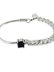 cheap -Silver Plated Rhinestone Chain Bracelets