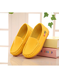 Girl's Loafers & Slip-Ons Summer PU Casual Flat Heel  Black Blue Yellow Green Pink Red